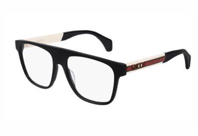 Gucci GG0465O 001 black ivory transpare 55 Men's Eyeglasses