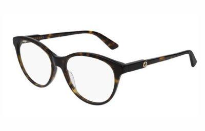 Gucci GG0486O 002 havana havana transpa 54 Women's Eyeglasses