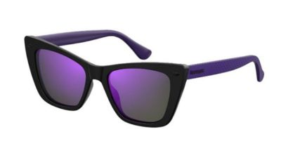 Havaianas Canoa HK8/TE BLACK VIOLET 52 Women's Sunglasses