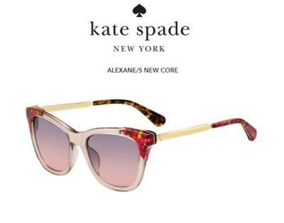 Kate Spade Alexane/s OBL/FF GRAPHIC PINK 53 Women's Sunglasses