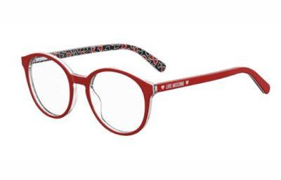 Moschino Love Mol540 0PA/19 RED PATTERN 50 Women's Eyeglasses