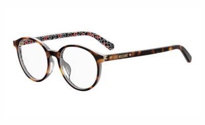 Moschino Love Mol542/f VH8/18 BRWSTR BKRED 50 Women's Eyeglasses