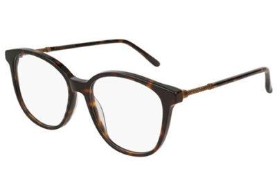 Bottega Veneta BV0137O 002-avana 52 Women's Eyeglasses