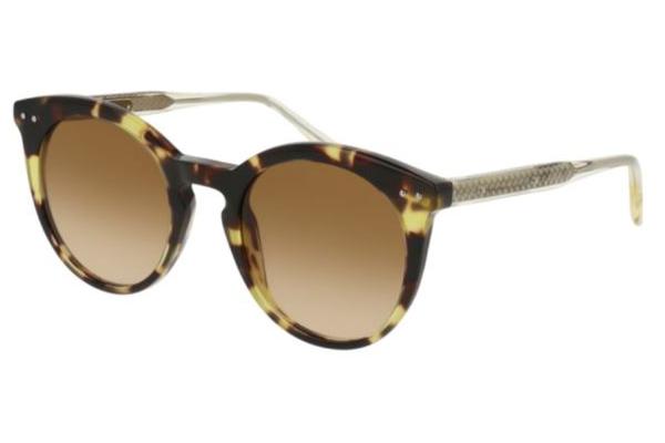 Bottega Veneta BV0096S avana 51 Women's Sunglasses