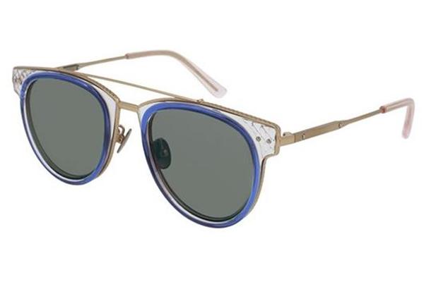 Bottega Veneta BV0123S blue 50 Unisex Sunglasses
