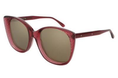 Bottega Veneta BV0149S 004-burgundy 54 Women's Sunglasses