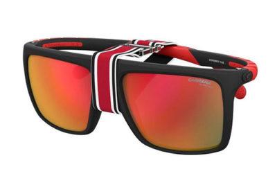 Carrera Hyperfit 11/s BLX/UZ MT BLK RED 57 Men's Sunglasses