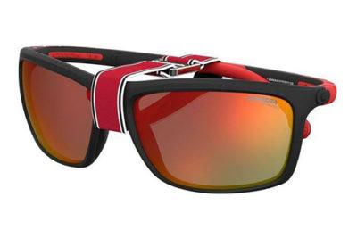 Carrera Hyperfit 12/s BLX/UZ MT BLK RED 62 Men's Sunglasses
