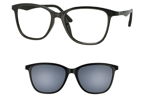 CentroStyle 56342 SHINY BLACK 51 17-140 MO  51 Women's Eyeglasses