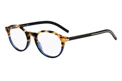 Christian Dior Blacktie264 IPR/20 HAVANA BLUE 50 Men's Eyeglasses