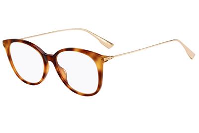 Christian Dior Diorsighto1 086/16 DARK HAVANA 52 Women's Eyeglasses