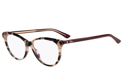 Christian Dior Montaigne17 CAD/16 HVNA BURGUND 51 Women's Eyeglasses