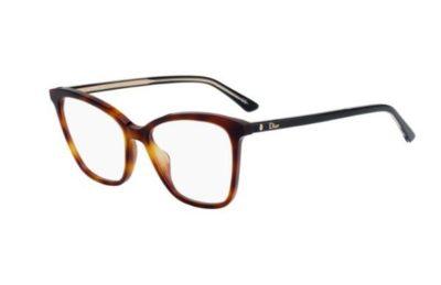 Christian Dior Montaigne46 581/17 HAVANA BLCK 52 Women's Eyeglasses