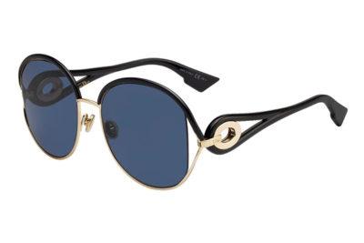 Christian Dior Diornewvolute RHL/A9 GOLD BLACK 57 Women's Sunglasses