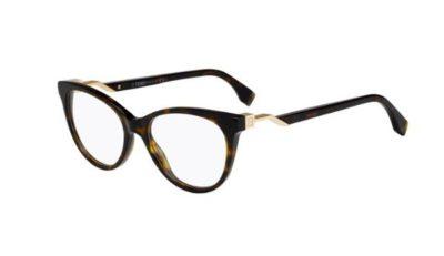 Fendi Ff 0201 086/17 DARK HAVANA 52 Women's Eyeglasses
