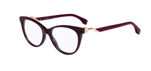 Fendi Ff 0201 5BR/17 PLUM BURGUND 52 Women's Eyeglasses