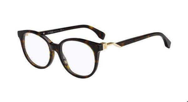 Fendi Ff 0202 086/18 DARK HAVANA 50 Women's Eyeglasses