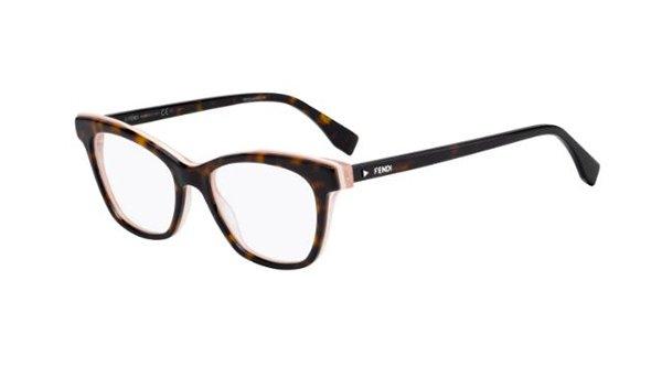 Fendi Ff 0256 086/17 DARK HAVANA 50 Women's Eyeglasses