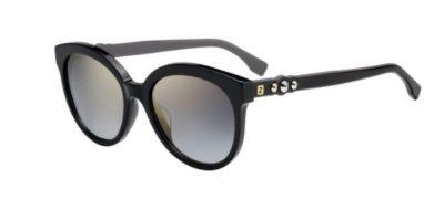 Fendi Ff 0268/s 807/FQ BLACK 56 Women's Sunglasses