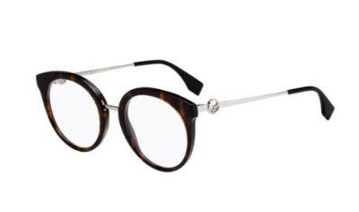 Fendi Ff 0303 086/20 DARK HAVANA 51 Women's Eyeglasses