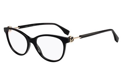 Fendi Ff 0347 807/17 BLACK 52 Women's Eyeglasses
