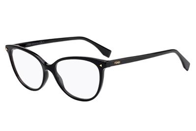 Fendi Ff 0351 807/16 BLACK 53 Women's Eyeglasses