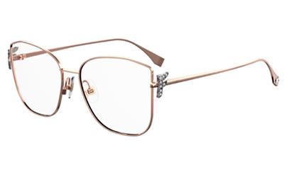 Fendi Ff 0390/g DDB/16 GOLD COPPER 56 Women's Eyeglasses