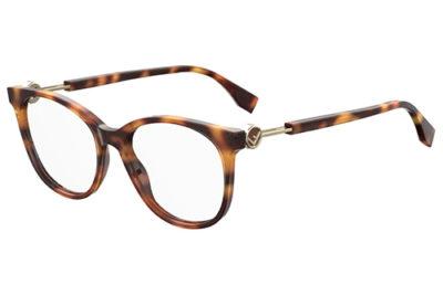 Fendi Ff 0393 086/17 DARK HAVANA 52 Women's Eyeglasses