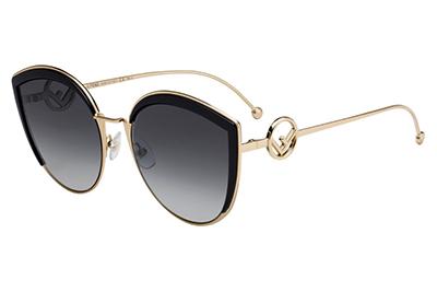Fendi Ff 0290/s 807/9O BLACK 58 Women's Sunglasses