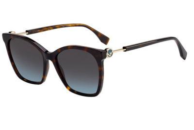 Fendi Ff 0344/s 086/1I DARK HAVANA 57 Women's Sunglasses