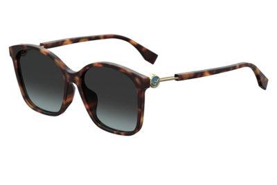 Fendi Ff 0361/f/s 086/1I DARK HAVANA 57 Women's Sunglasses