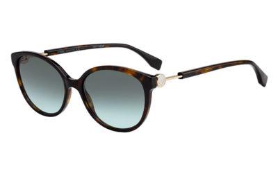 Fendi Ff 0373/s 086/EQ HAVANA 57 Women's Sunglasses