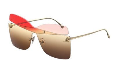Fendi Ff 0399/s G63/HA RED OPLPEACH  Women's Sunglasses