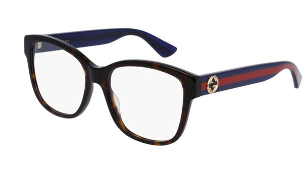 Gucci GG0038O avana 54 Women's Eyeglasses