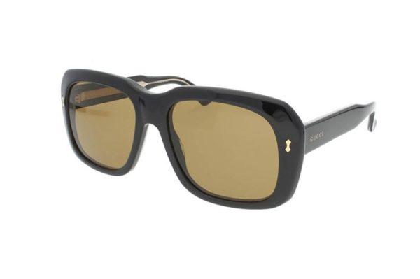Gucci GG0049S black 57 Unisex Sunglasses
