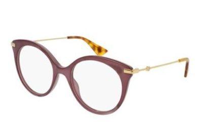 Gucci GG0109O 004-pink 50 Women's Eyeglasses