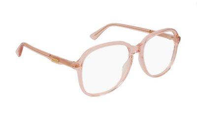 Gucci GG0259O 005-orange-orange-transpa 55 Women's Eyeglasses