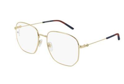 Gucci GG0396O 003-gold-gold-transparent 56 Women's Eyeglasses