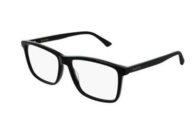 Gucci GG0407O 005-black-black-transpare 57 Men's Eyeglasses