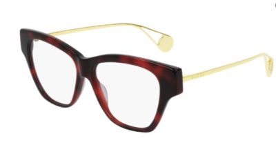Gucci GG0438O 004 havana gold transpare 52 Women's Eyeglasses