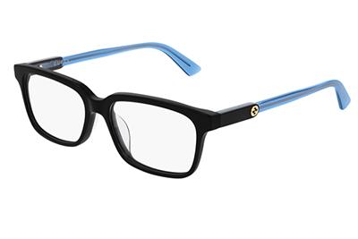 Gucci GG0557OJ 004 black blue transparen 53 Women's Eyeglasses