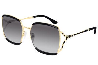 Gucci GG0593SK 001 black black grey 59 Women's Sunglasses