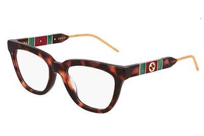 Gucci GG0601O 002 havana havana transpa 50 Women's Eyeglasses