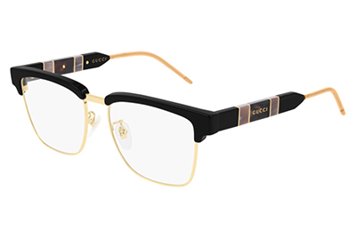 Gucci GG0605O 001 black black transpare 52 Men's Eyeglasses