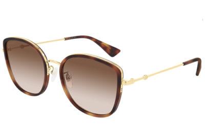 Gucci GG0606SK 003 havana gold brown 56 Women's Sunglasses