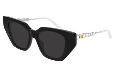 Gucci GG0641S 001 black silver grey 53 Women's Sunglasses