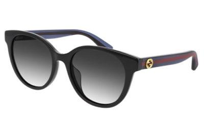 Gucci GG0702SK 002 black blue grey 54 Women's Sunglasses