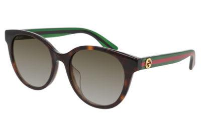 Gucci GG0702SK 003 havana green brown 54 Women's Sunglasses