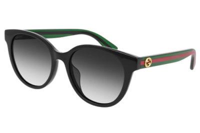 Gucci GG0702SK 004 black green grey 54 Women's Sunglasses