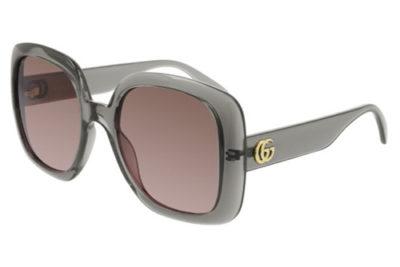 Gucci GG0713S 004 grey grey brown 55 Women's Sunglasses